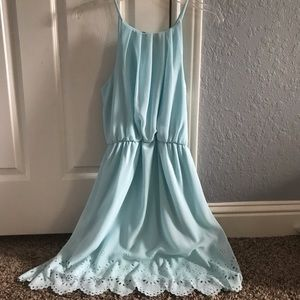 Adorable baby blue dress with cute cutouts